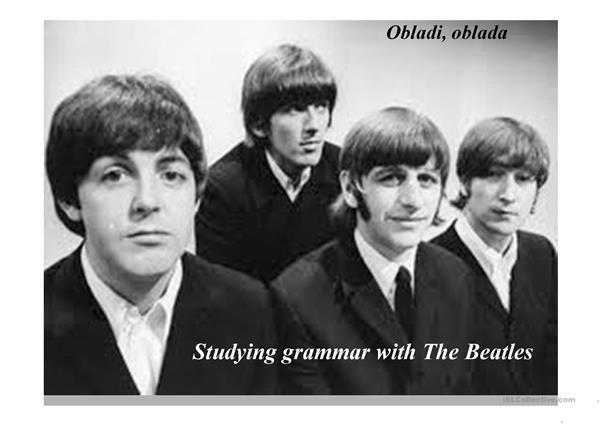 Studying grammar with the Beatles