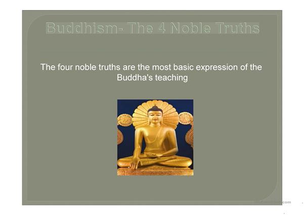 The 1st Noble Truth of the Buddha