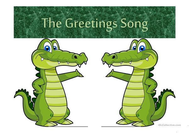 The Greetings Song PPT