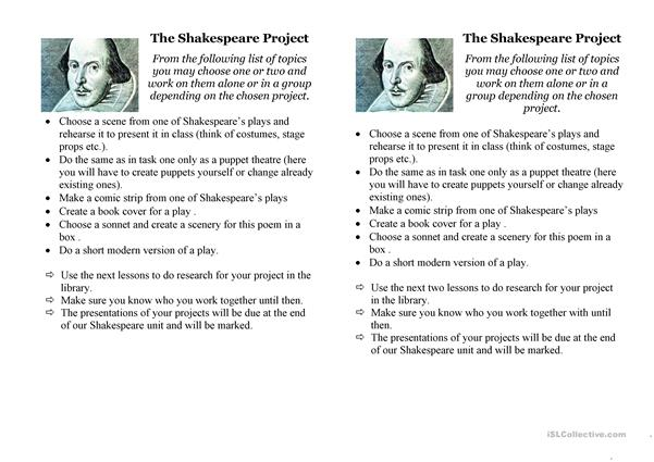 the Shakespeare project