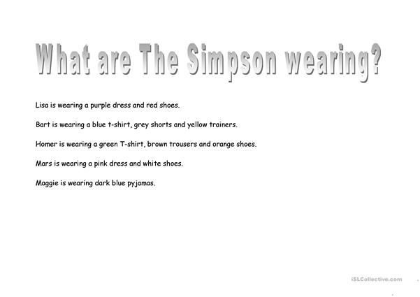 The Simpson clothes