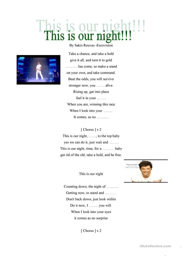 This is our night by Sakis Rouvas-Eurovision song