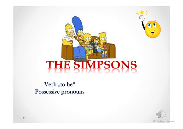 to be, possessive pronouns elementary