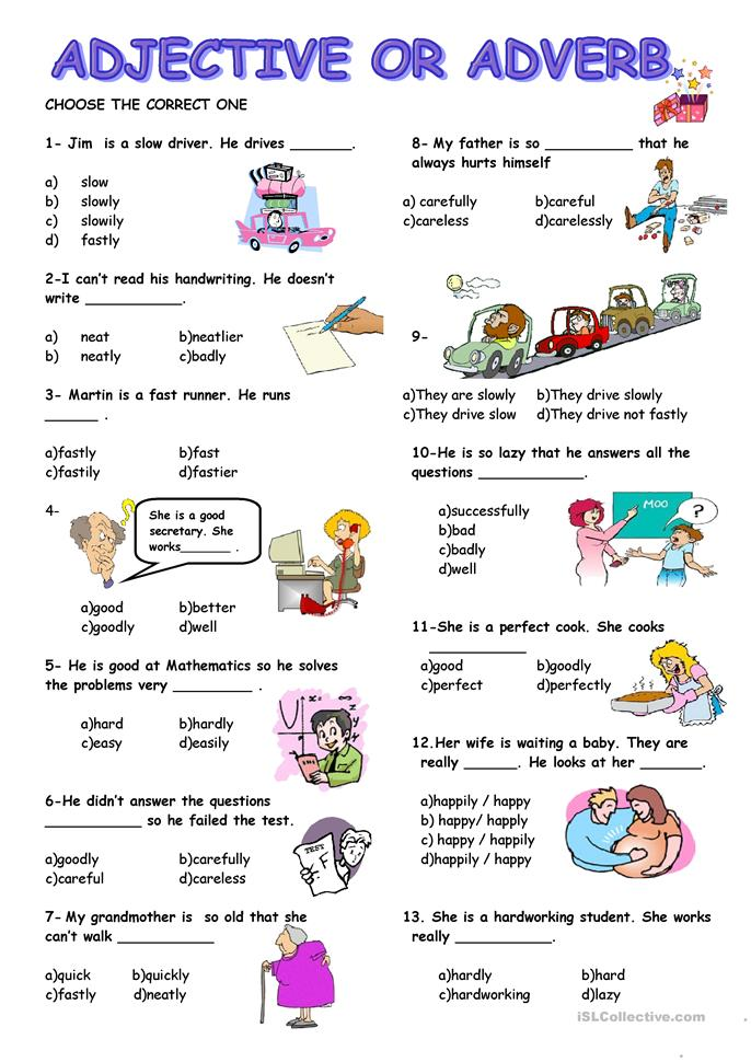 Worksheets Adjective And Adverb Worksheets adjective or adverb worksheet free esl printable worksheets made by teachers