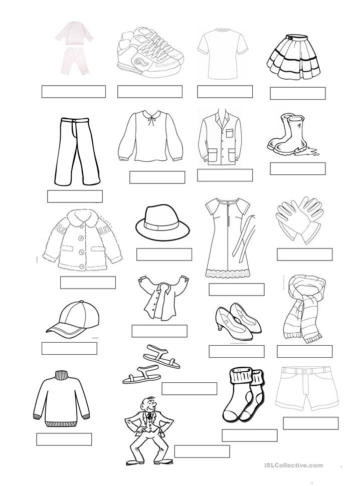 40 FREE ESL clothes vocabulary worksheets
