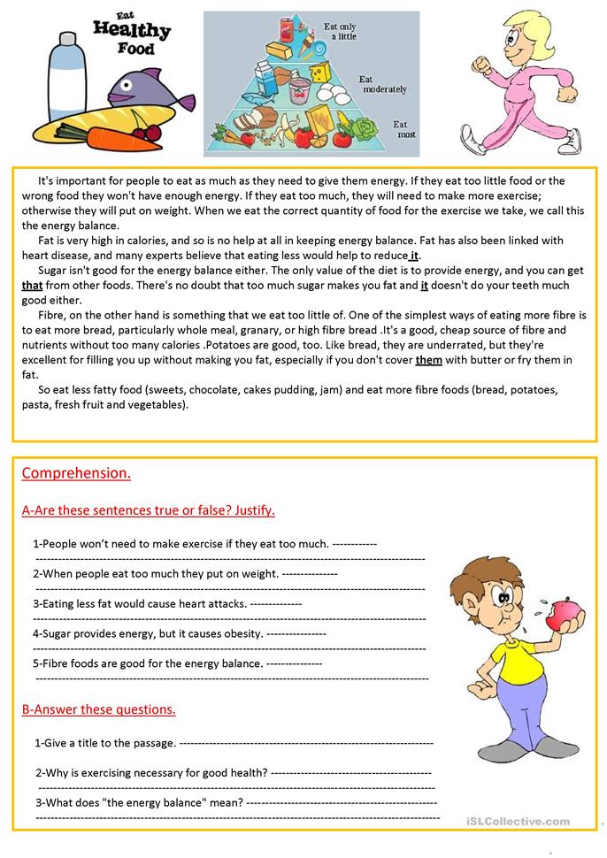 Printables Healthy Living Worksheets 96 free esl healthy worksheets eat food