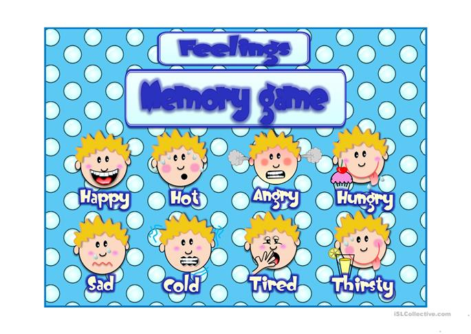 69 free esl feelings emotions powerpoint presentations for Memory game template for powerpoint