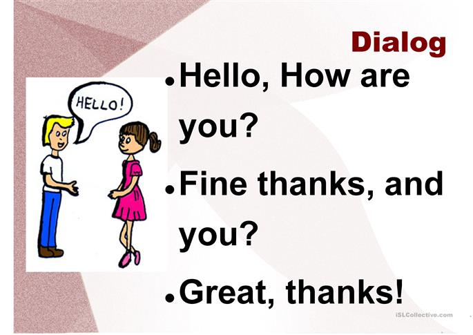 dialogue presentation english Speaking - dialogues (beginner a1-a2): having english conversations varied  exercises and collections of common idioms - learning english online.