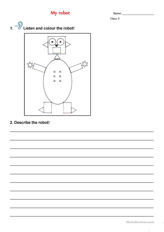 my robot shapes worksheet free esl printable worksheets made by teachers. Black Bedroom Furniture Sets. Home Design Ideas