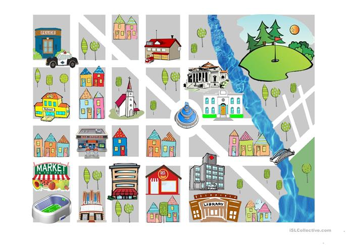 Prepositions of place - ESL worksheets