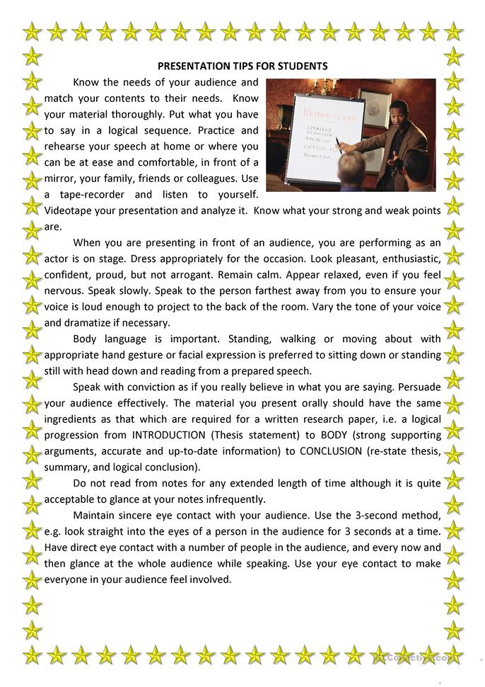 public speaking notes Get a public speaking expert's tips on the best ways to give a speech learn whether you should memorize a speech, use notes in a speech, or read a speech.