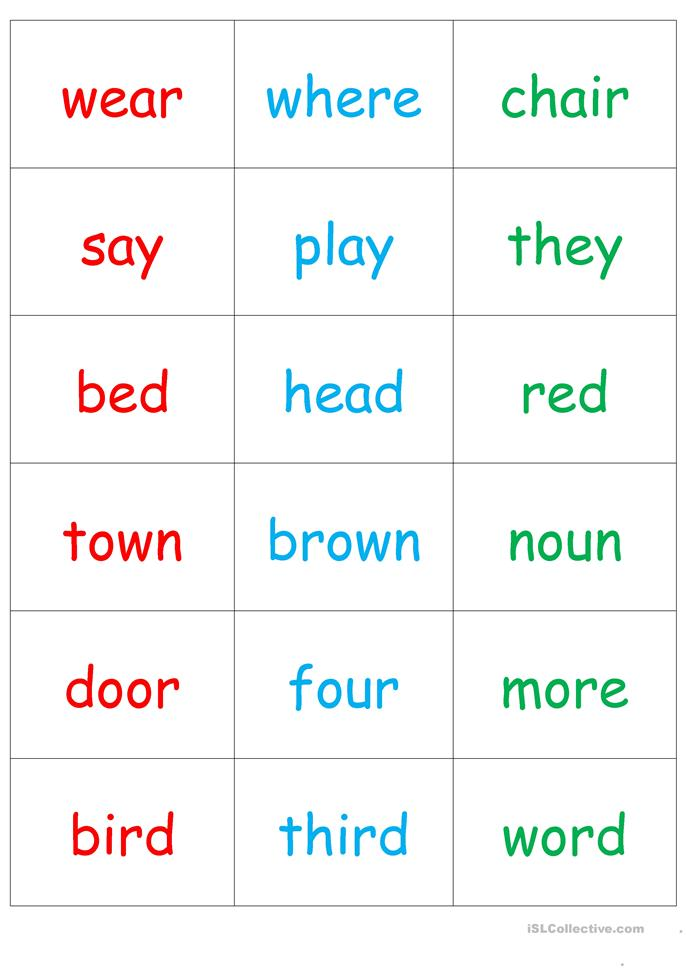 32 FREE ESL rhyming worksheets