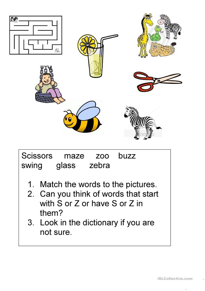 3 letter words ending in z s and z sounds worksheet free esl printable worksheets 20077 | big 35383 s and z sounds 1