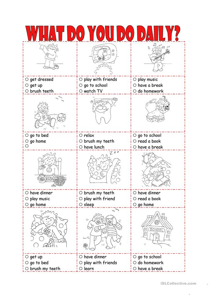 What do you do daily? - ESL worksheets