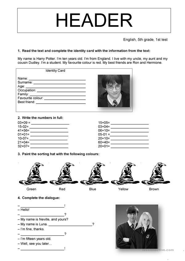 Clever image with regard to harry potter activities printable