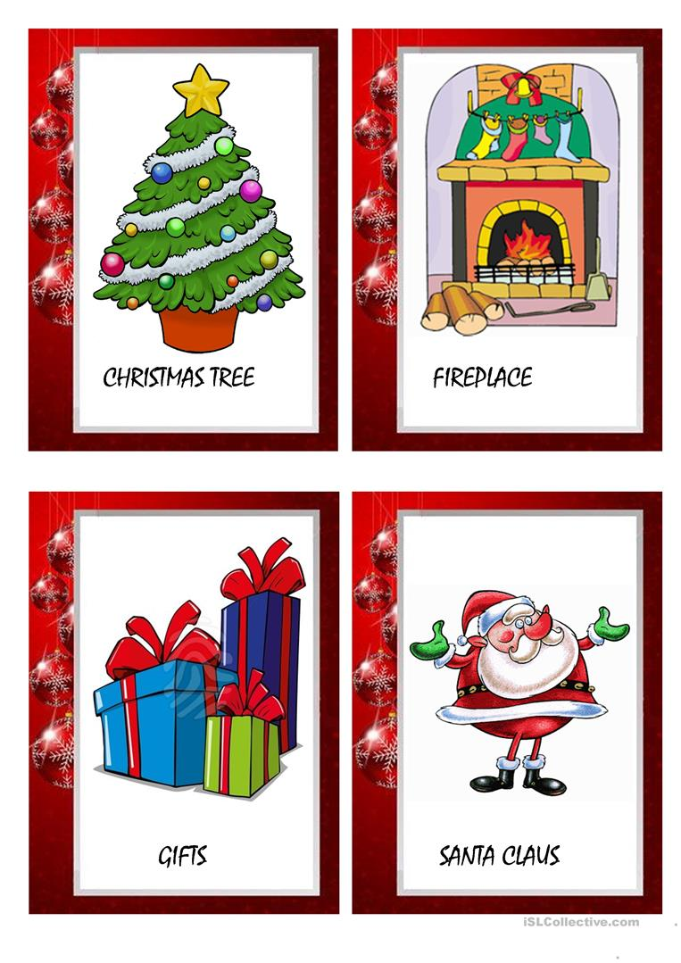 43 free esl christmas card worksheets christmas flashcards kristyandbryce Image collections