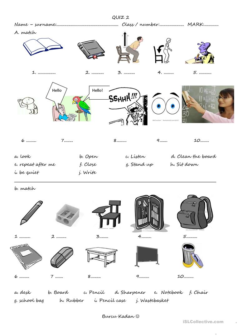 worksheet Classroom Worksheets 20 free esl classroom commands worksheets objects and commands