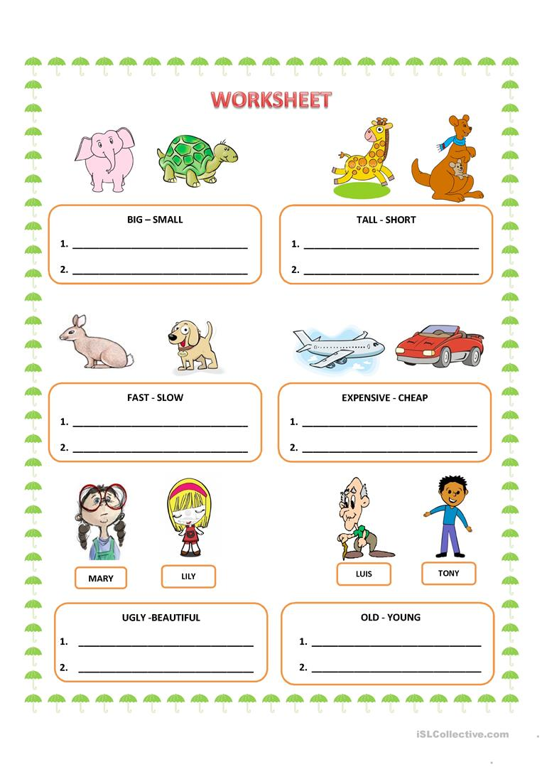 worksheet Worksheets On Comparative Adjectives comparative adjectives worksheet free esl printable worksheets full screen