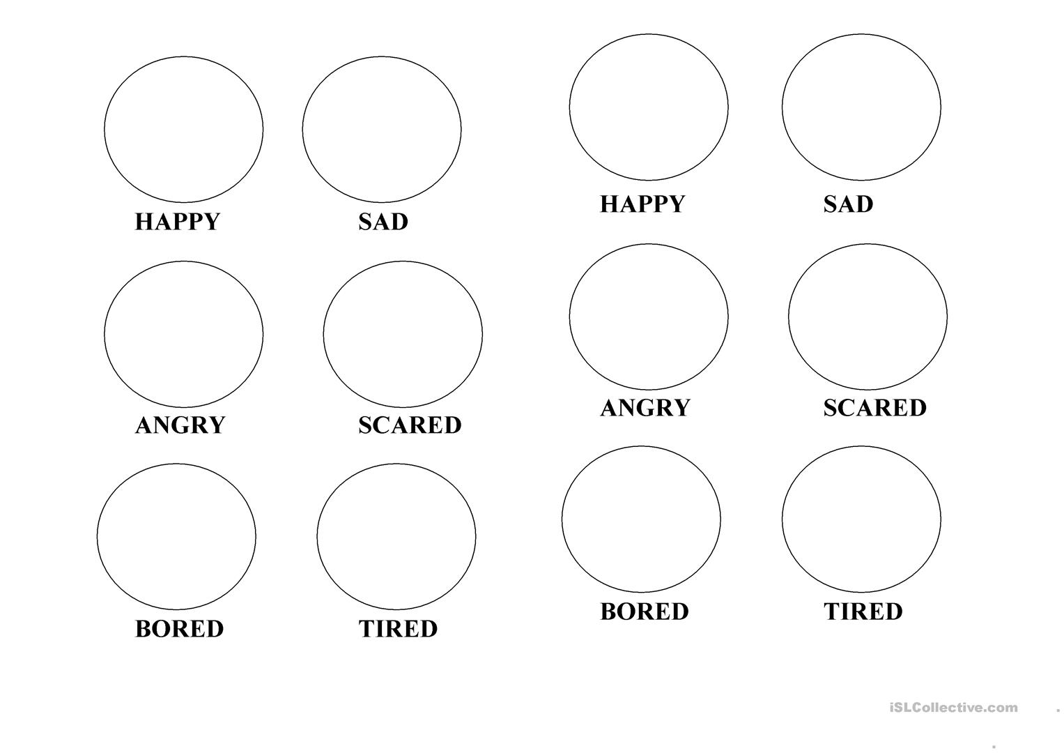 Emotions Coloring Pages Worksheet Free Esl Printable Worksheets