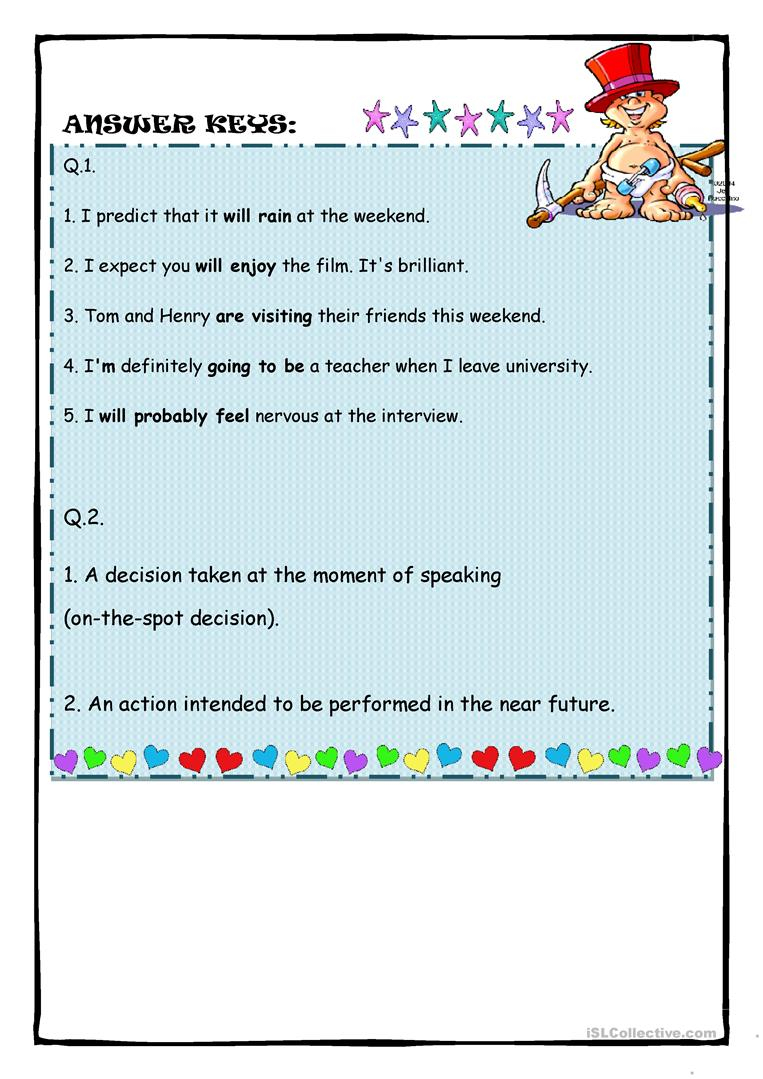 Future Forms worksheet - Free ESL printable worksheets made by teachers