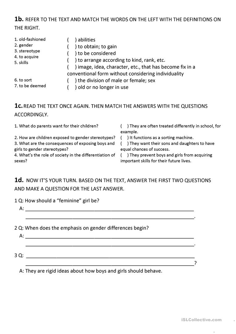 172818719875 Worksheets On Point Of View Excel Oval Worksheets Gender  Differences Reading Fun Activities Games Oneonone