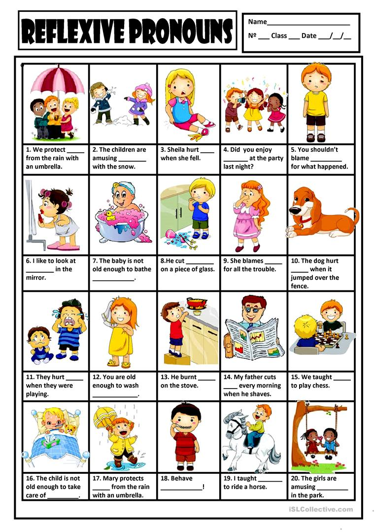 Worksheets Reflexive Pronouns Worksheets 26 free esl reflexive pronouns worksheets key