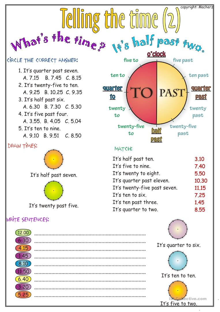 telling the time worksheet part 2 worksheet free esl printable worksheets made by teachers. Black Bedroom Furniture Sets. Home Design Ideas