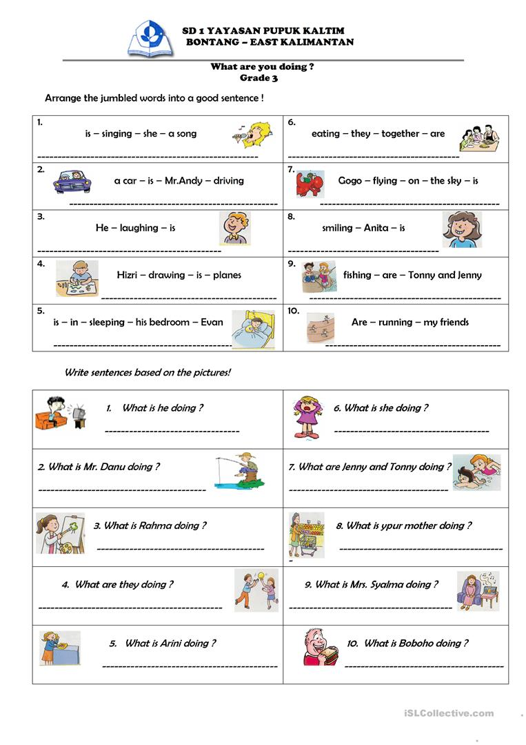 What are you doing ? worksheet - Free ESL printable worksheets made ...