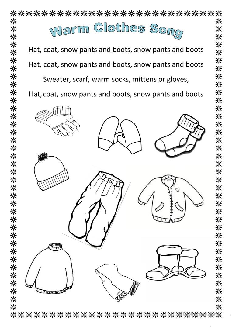 winter words ctivities coloring pages - photo#43