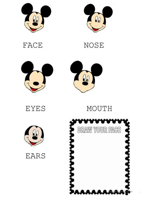 mickey mouse face