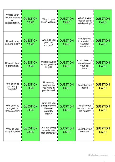 Questions Board Game Instructions Worksheet Free Esl Printable