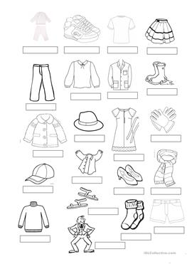 43 Free Esl Clothes Vocabulary Worksheets