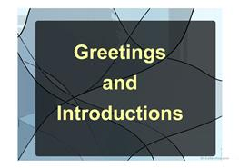 35 Free Esl Greetings Powerpoint Presentations Exercises
