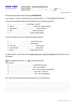 English ESL present perfect worksheets - Most downloaded ...
