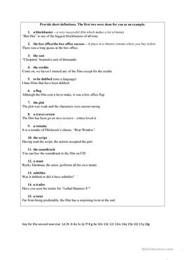 English Esl Movie Vocabulary Worksheets Most Downloaded 16 Results