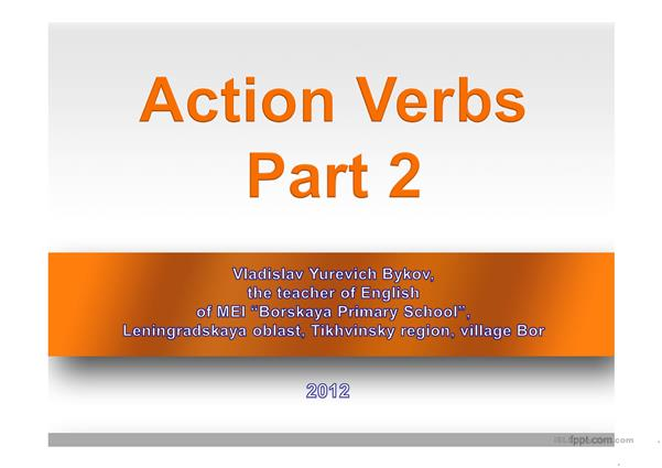 Action Verbs (Part 2)