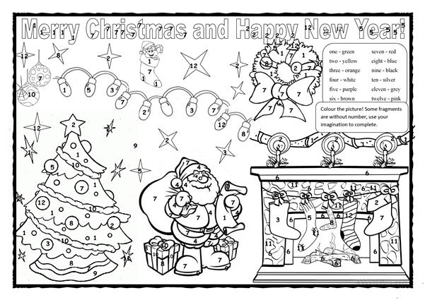 Christmas colouring 2!