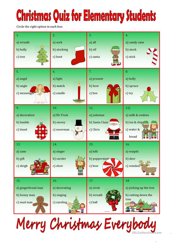 Christmas Quiz for Beginners