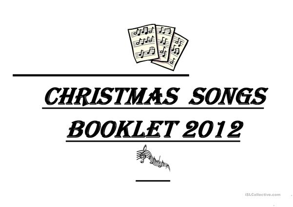 Christmas songs booklet