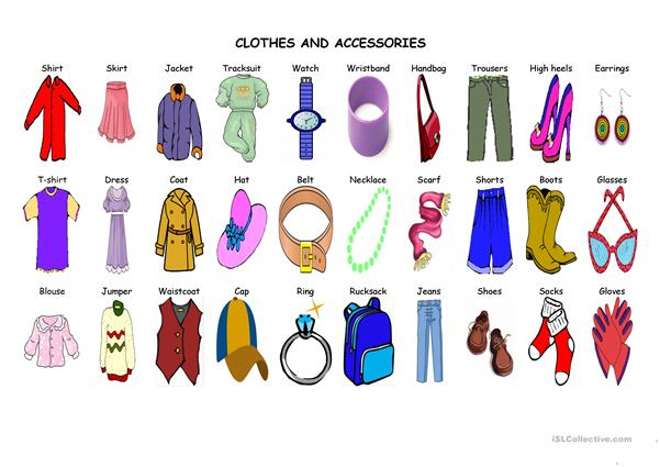 Clothes and accesories