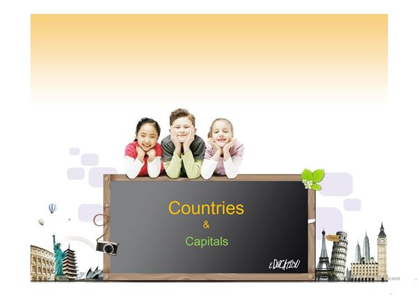 COUNTRIES AND CAPITALS part 1