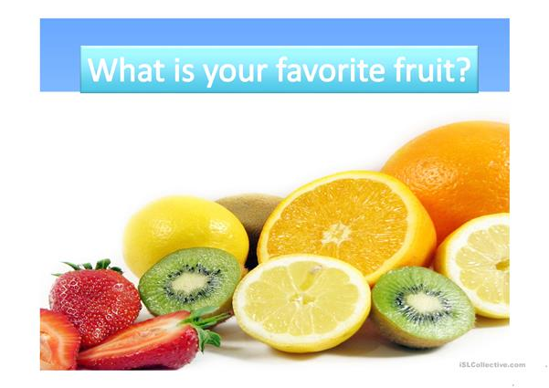 favourite fruits