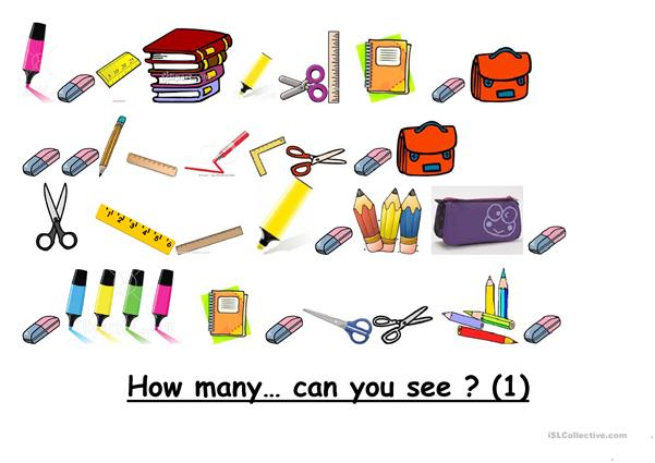 How many school objects can you see?