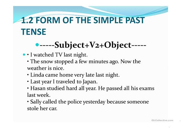 Past simple PPT