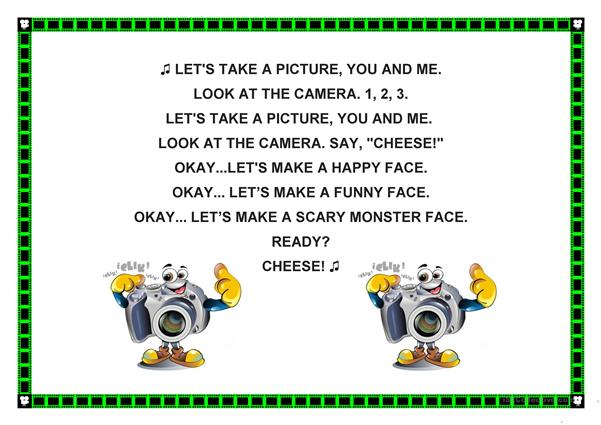say cheese SONG