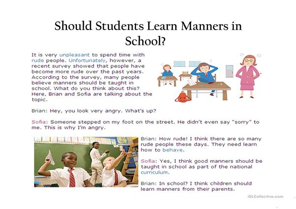 School Manners