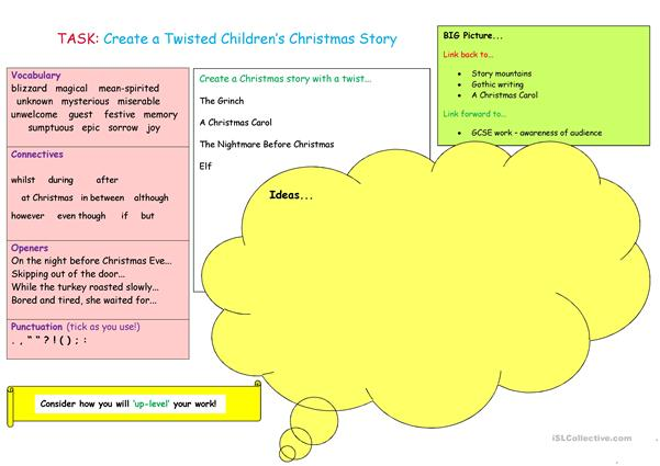 VCOPS Christmas story mat