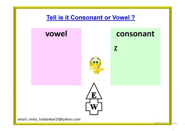 VOVEL AND CONSONANT - 2