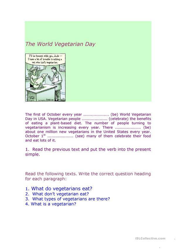 World Vegetarian food