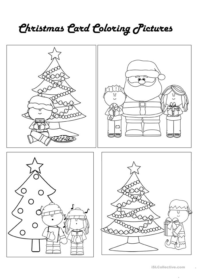 Color Your Own Christmas Cards worksheet - Free ESL ...